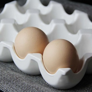 Image 3 - Creative ceramic 6 grid 12 grid egg tray Household kitchen refrigerator fresh egg storage box baking tableware baking egg tray