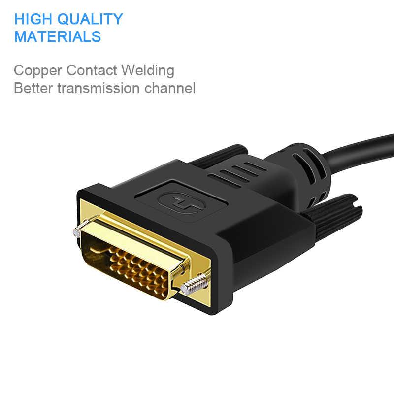 FANGTUOSI HD 1080P DVI Stecker auf VGA BUCHSE Adapte 24 + 1 25Pin Männlichen zu 15Pin Weibliche Kabel konverter für PC Computer HDTV Monitor