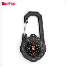 NEW design Waterproof Carabiner outdoor compass with luminous and 1-2-3system