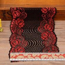 Wholesale Lot 1 Yard 18cm Wide 12 Colors Delicate Elastic/Spandex Flower Floral lace trim DIY/sewing/Wedding Lace 768