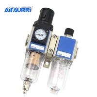 Two Units Filter Regulator GFC 200 1/8 1/4 3/8 1/2 FRL Air Compressor Filter Regulator Air Preparation Units