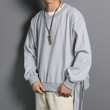 2019 Autumn Men's New Casual Solid Color Long-sleeved Round Neck  Loose Temperament Trend Cotton Hoodies Harajuku M-5XL цены