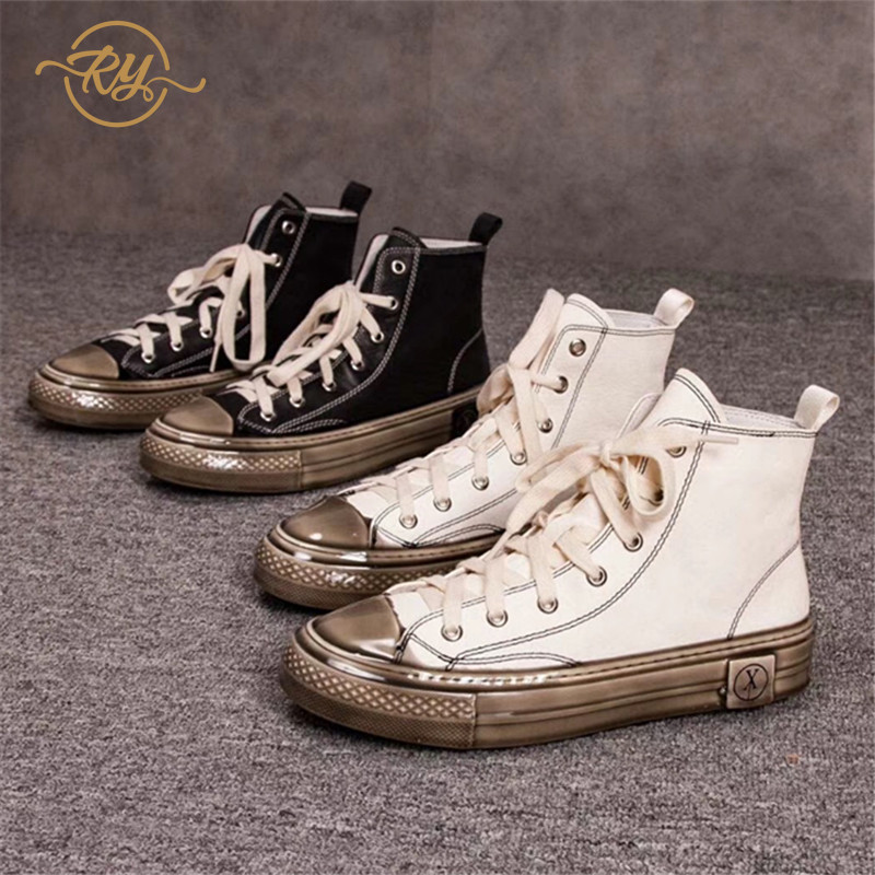 RY-RELAA Womens Sneakers Shoes 2018 Fashion Genuine Leather  Luxury Shoes Women Designers White Sneakers Women Casual Shoes