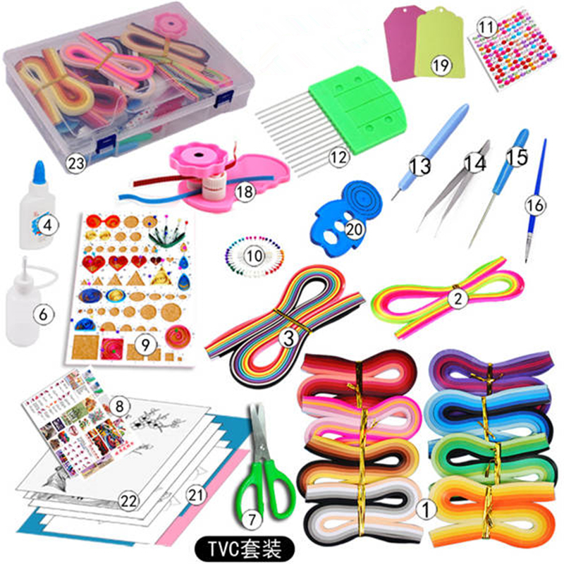 Paper Quilling Tool Handmade Tweezer Crimping Paper Craft Art Set Starter Quilling Tools Kit Climper Tool Tower DIY Scrapbooking