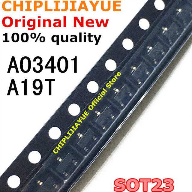 50PCS AO3401 SOT23 A19T SOT 23 SOT23 3 SMD חדש ומקורי IC ערכת שבבים