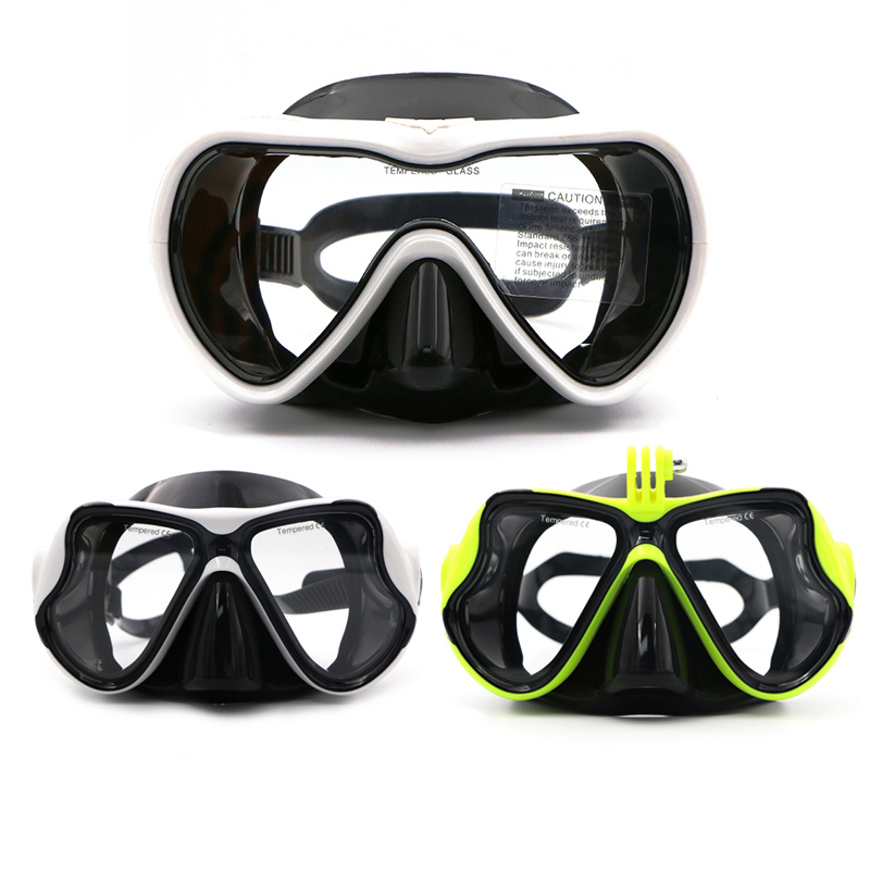 Speefish Scuba Diving Mask Adult Swimming Goggles Snorkeling Silicone Anti-fog Tempered Glass Dive Equipment Wide Vision Eyewear