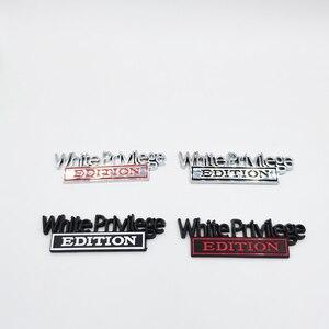 Image 1 - Weiß Privileg Edition Emblem Abzeichen Auto Aufkleber Für Jeep Compass Patriot Renegade Ford F150 F250 F350 Chevrolet RAM GMC Hummer