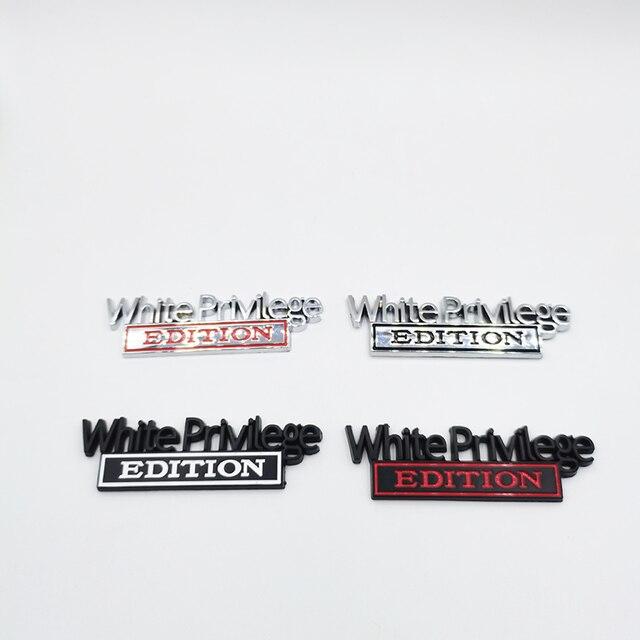 Weiß Privileg Edition Emblem Abzeichen Auto Aufkleber Für Jeep Compass Patriot Renegade Ford F150 F250 F350 Chevrolet RAM GMC Hummer