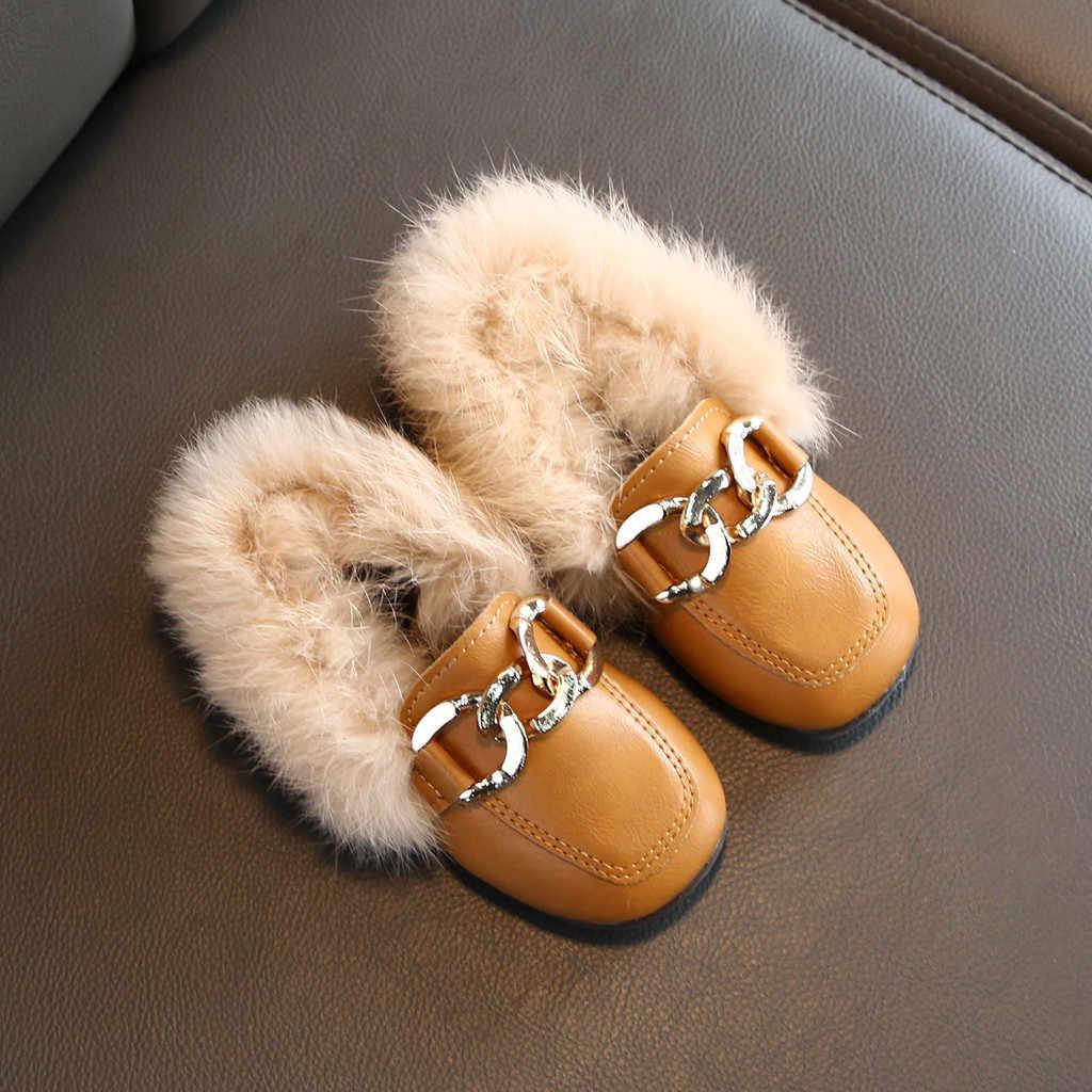 Peuter Infant Kids Baby Jongens Meisjes Casual Winter Warm Pluche Harige Harige Schoenen Leisure Laarzen kids schoenen Sapato Infantil детская