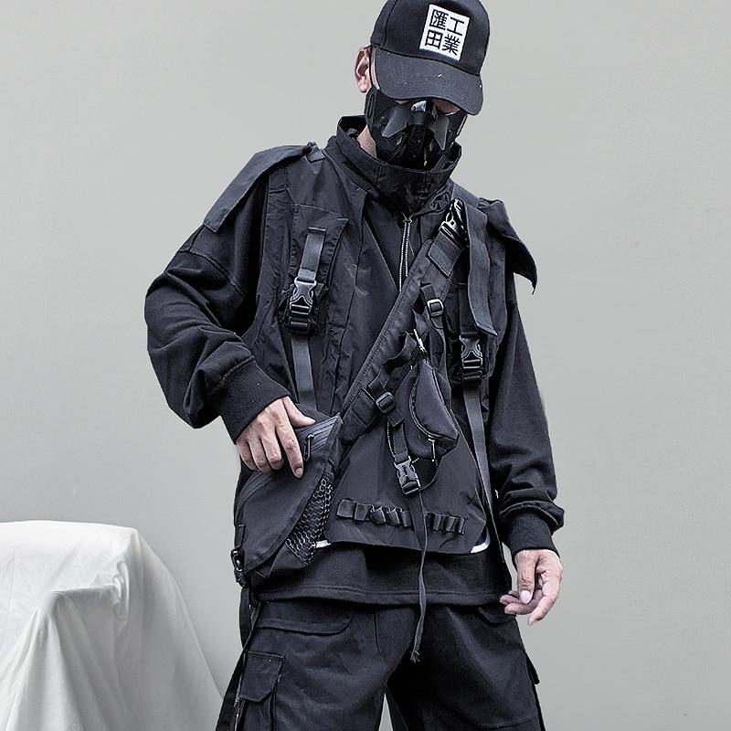 Mens Back Jacket Ma1 Hip Hop Aviator Bomber Jacket Outwear Streetwear Cargo Coat Male
