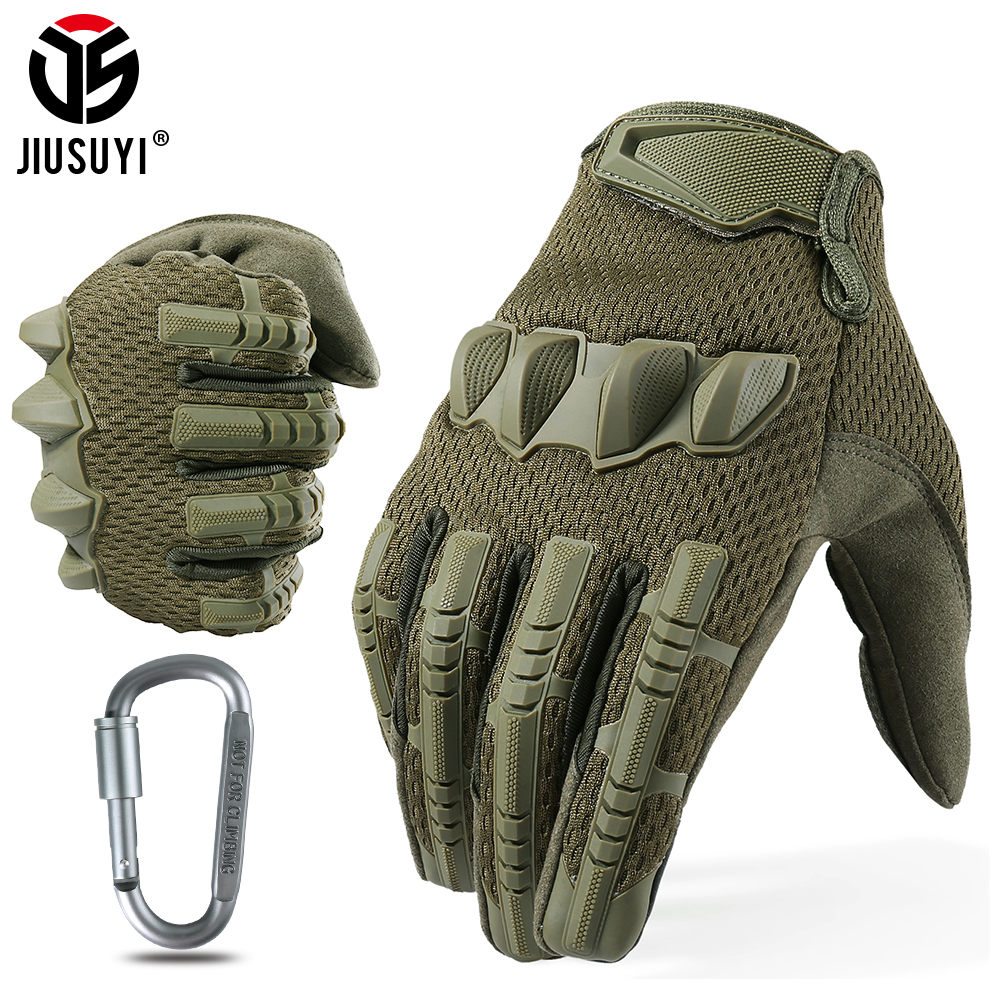Tactical Multicam Camo Mittens Full Finger Glove Touch Screen Army Military Rubber Knuckle Airsoft Paintball Cycle Non-skip Men