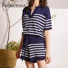 Genayooa Stripe Two Piece Set Top And Pants