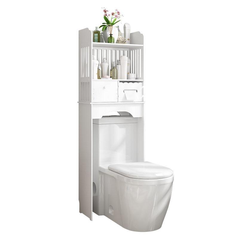 Bathroom Shelf Free Punching Toilet Cabinet Toilet Toilet Floor Bathroom Shower Storage Storage Rack