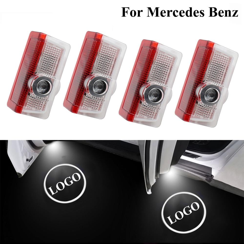Mercedes AMG E C sınıfı W205 W176 W177 W212 araba logosu kapı işık lazer projektör gölge lamba nezaket karşılama ışığı hayalet lamba