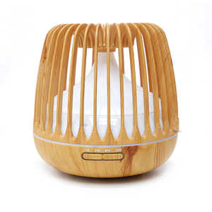 Image 5 - 500ML Aroma Essential Oil Diffuser Ultrasonic Air Humidifier Wood Grain 7 Color Changing LED Light Cool Mist Difusor for Home
