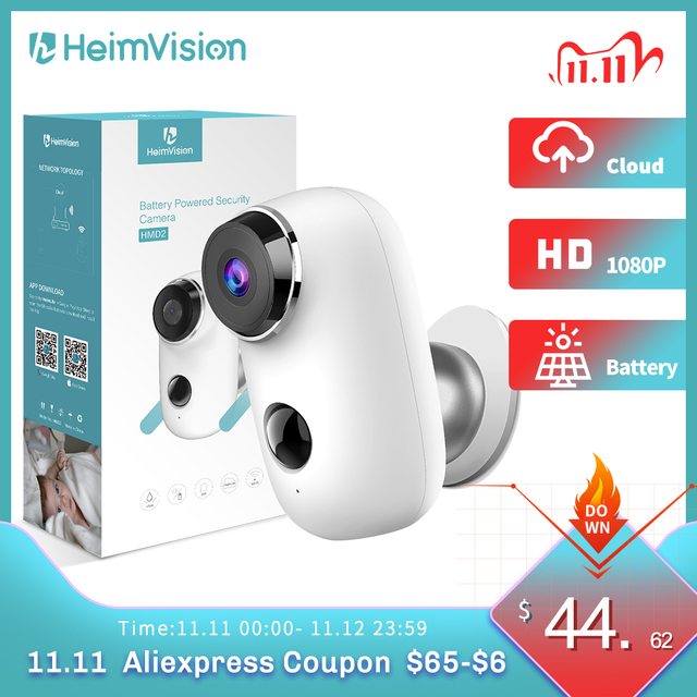 Heimvision HMD2 1080P IP Camera Wifi Battery Camera Wireless Rechargeable with Solar Panel Weatherproof Home Security PIR Motion 1