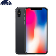 Apple Iphone X Asli Unlocked 4G LTE Mobile Phone 5.8 ''12.0MP 3G RAM 64G/256G ROM Face ID Ponsel(China)
