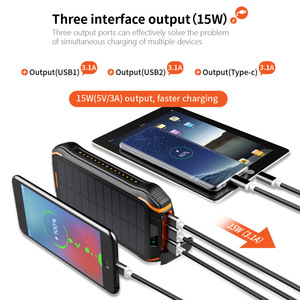 Image 4 - Solar Power Bank QI 3.0 Waterproof Powerbank Battery Poverbank Portable Charger LED LCD for 26800mah Sola Supply