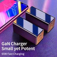 Cargador de pared USB C para móvil, cargador de pared portátil rápido de 65W con 2 puertos, adaptador de corriente PD 3,0 de carga tipo C para iPhone, Huawei y Xiaomi