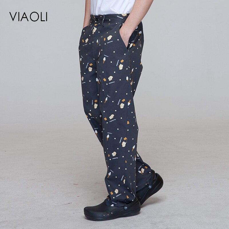 Viaoli Restaurant Chef Uniform For Men Pants Kitchen Trouser Chef Uniforms For Women Pants Elastic Waist Bottoms Working Clothes Bottoms Aliexpress