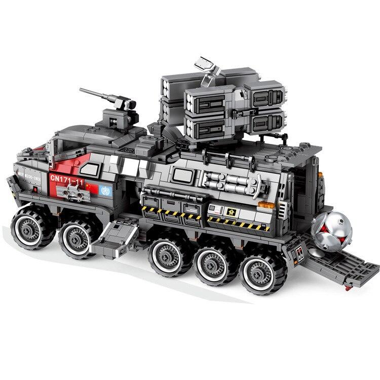Nowy MOC wojskowe CN171 wojsk przewoźnika pasuje do Legoings Technic miasto Swat Tank klocki klocki Model zabawki dla dzieci prezent urodzinowy w Klocki od Zabawki i hobby na  Grupa 2