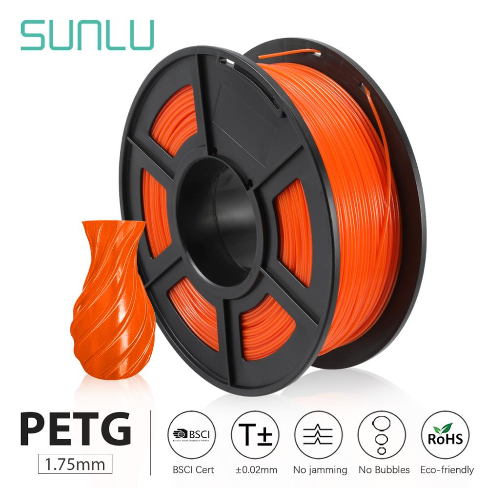 SUNLU PETG 3D Printer Filament 1.75mm 1KG/2.2LB Spool For Birthday Gift DIY Printing Fast Delivery