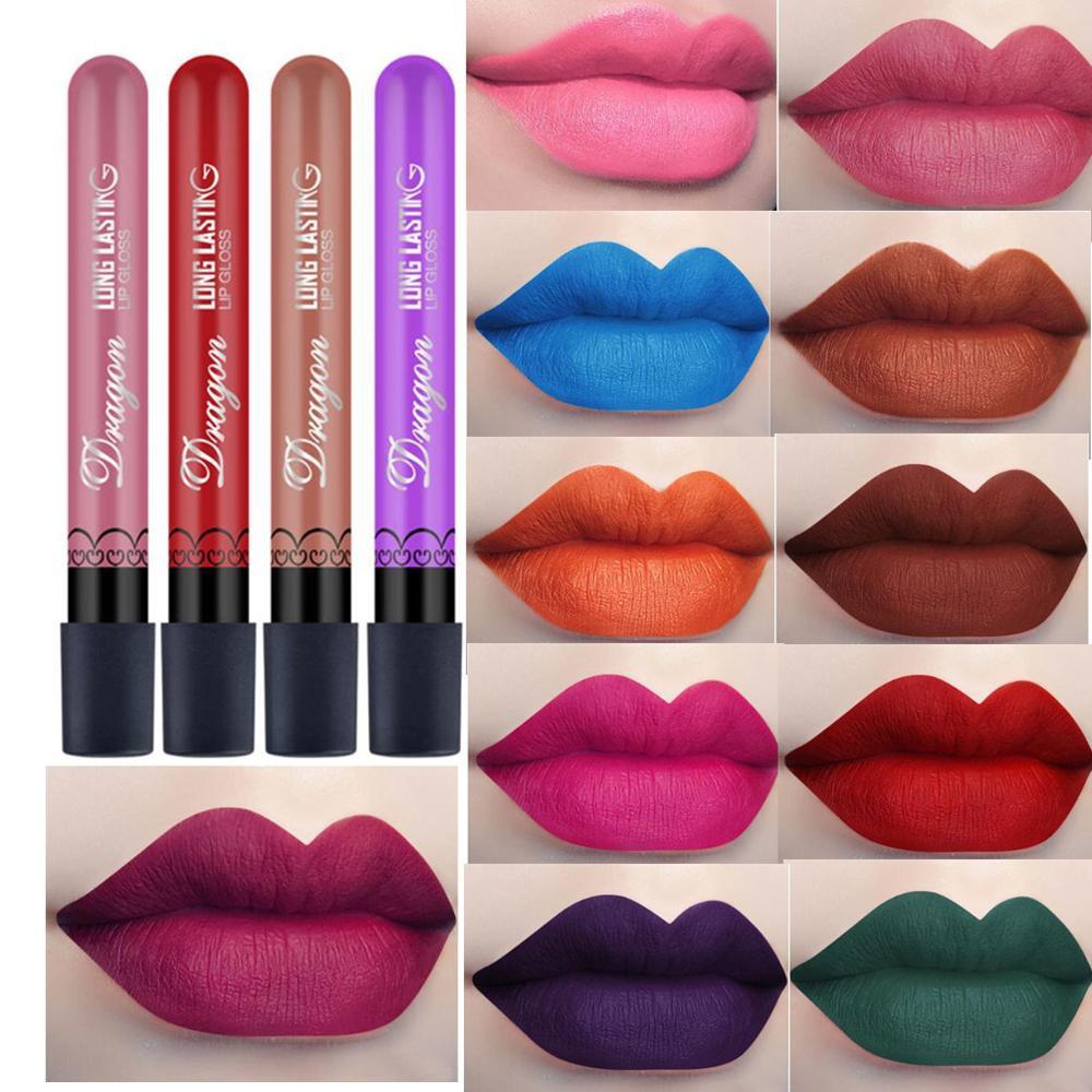 New 36 Color Matte Lip Gloss  Beauty Waterproof Lipstick Velvet Lipstick  Professional Makeup Lip Gloss