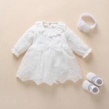 Baby Baptism Dress 2019 Bow Newborn Baby Girls Infant Dresse