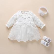 Детское платье для крещения 2020, платье и одежда для новорожденных девочек с бантом, Белоснежное платье для малышей, платье на день рождения ...