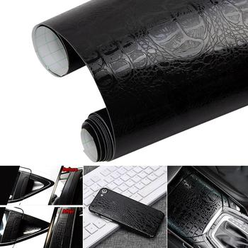 2020 Car Sticker 3D Leather Self Adhesive Crocodile Pattern Leather Vinyl Film Motorcycle Car Wrap Sticker Decals Car Styling image