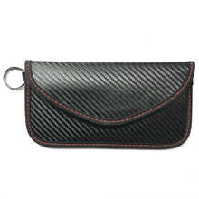 Carbon fiber Anti-theft Car Key Cover Case RFID Signal Blocker Blocking Pouch Bag Protector