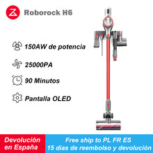 Roborock-aspiradora inalámbrica H6 Adapt, aspirador portátil de 2500pa, con filtro ciclónico, recolector de polvo
