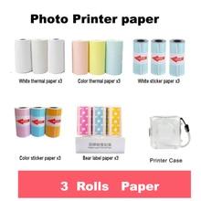 Paper-Label Photo-Paper Peripage for Mini 3-Rolls 57--30mm