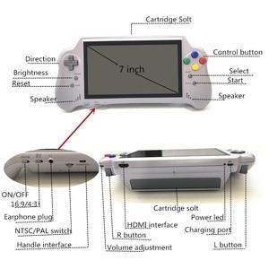 Image 5 - 16 битная Карманная игровая консоль с HDMI ULTRA SNES 5PLUS, портативная игровая консоль, 7 дюймовый большой экран, беспроводные контроллеры 2,4 ГГц