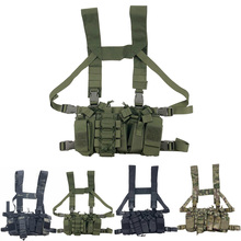 Combat Paintball Multi-pocket Tactical Equipment Military Gear Hunting Vest Chest Rig Battlefield Outdoor Camping Hiking  X127A