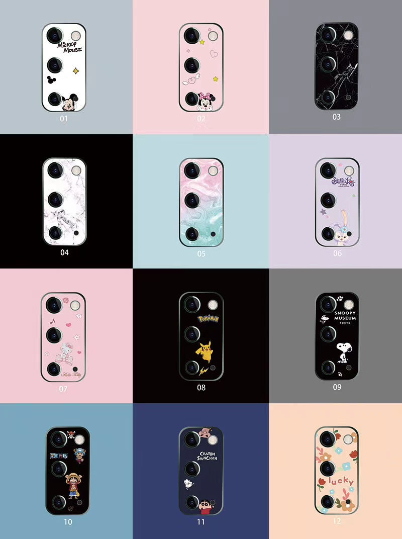 Cute Cartoon Camera Protector Case For Samsung S20 /S20 Plus /S20 Ultra Camera Protector Cute Tempered Glass Lens Protection
