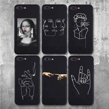 Abstract Lover Face Soft TPU Matte Case For iPhone 8 7 Plus XS Max XR Case Fundas Coque Cover For iPhone 6 6s X 5S SE Case 11Pro 1
