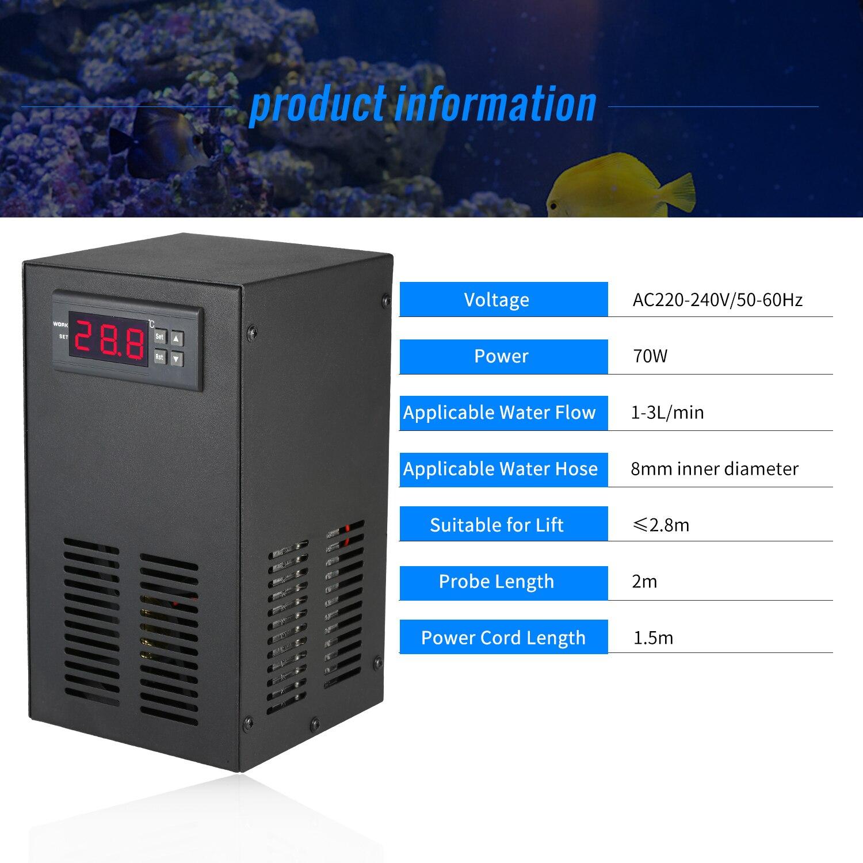Dispositif de refroidissement de refroidisseur d'eau de réfrigération de semi-conducteur de système de refroidissement de réfrigération pour l'équipement de refroidissement Constant de réservoir de poissons