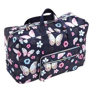 Image 5 - Sac de voyage pliable femmes grande capacité Portable sac à bandoulière dessin animé impression étanche week end bagages fourre tout en gros