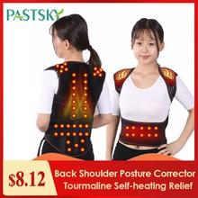 Turmalina auto-aquecimento terapia magnética cintura costas ombro postura corrector coluna lombar cinta de apoio para as costas cinto alívio da dor