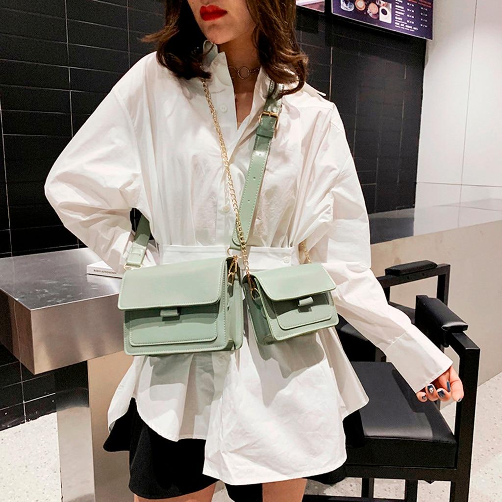 Purses And Handbags Luxury 2019 Women Wild Leather Handbags Fashion One-Shoulder Small Square Bag Crossbody Messenger Bag