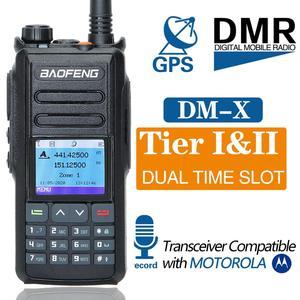 Image 2 - 2 Băng Tần DMR Bộ Đàm Baofeng DM X GPS Kỹ Thuật Số Tai Nghe Bộ Đàm 5W VHF UHF Khe Thời Gian DMR Hàm Nghiệp Dư VÔ TUYẾN HF Thu Phát