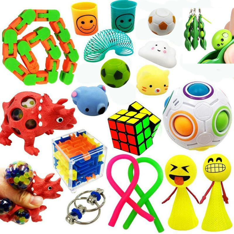 Suit-Set Fidget-Toy Stress Funny Combination Extrusive-Solving Various-Styles Hot-Selling