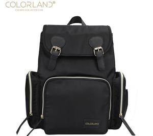 New Colorland Mommy Backpacks Nappy Bags Mummy bags with hooks Baby Carring Diaper Backpack Fashion leather Large Volume Bag(China)