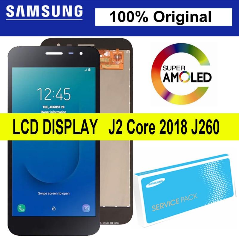 100% оригинал, супер Amoled 5 '', для Samsung Galaxy J2 Core J260, ЖК-дисплей, сенсорный экран, дигитайзер, сборка, запасные части