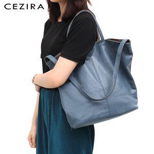 Image 5 - CEZIRAมังสวิรัติหนังแฟชั่นผู้หญิงToteกระเป๋าถือ 2 สีReversibleสุภาพสตรีขนาดใหญ่กระเป๋าสะพายCrossbodyกระเป๋าHobo