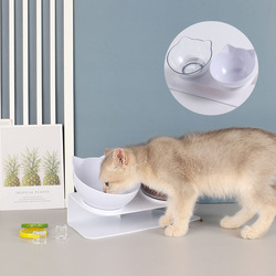 Non-Slip Double Cat Bowl Dog Bowl Feed Protect Spine Water Food Care Stand Bowl Pet Feeding Pet Bowls Dog Accessories