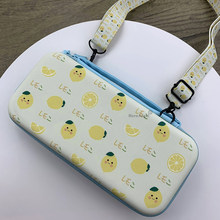 For Nintend Switch Bag Protective Case Hard Cover Shell Fruit Theme Switch Bag NS Game Console Box with Lanyard