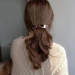 Elegant Acetate Resin Hairpins Marble Leopard Print Geometric Rectangle Hair Clips Women Ponytail Clip Female Hair Accessories