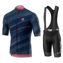 Camiseta para bicicleta de montaña para hombre, conjunto de pantalones cortos y pechera